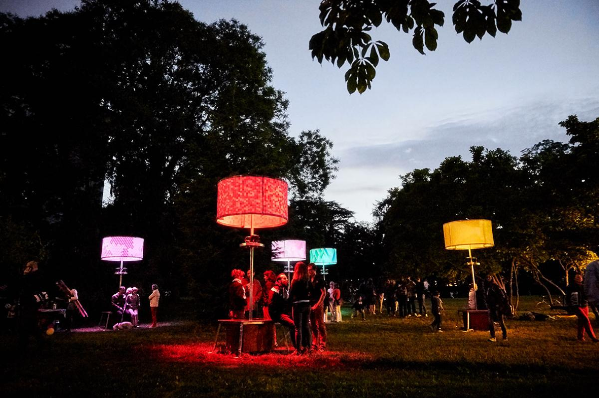 night installation at parc Beaulieu